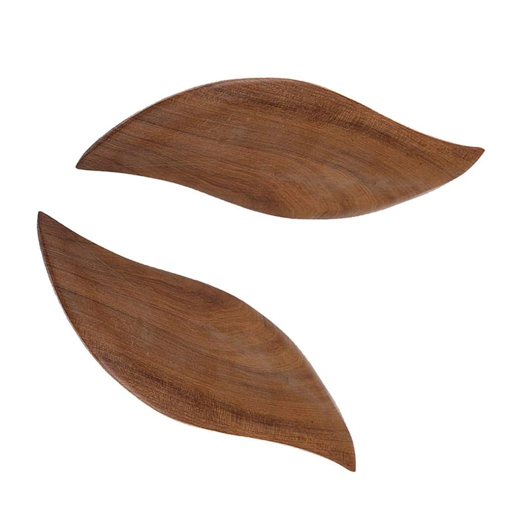 スキャン準備ができてナイトスポットFLAMEER 2枚 かっさプレート 木製 ボード ボディーケア マッサージ マッサージャー