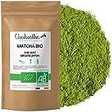 Chabiothé Matcha Dégustation Bio 100g - Origine Japon et sachet biodégradable - thé vert Matcha en poudre