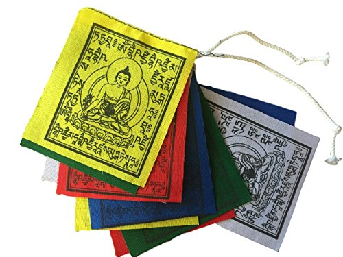 Mini Medicine Buddha Prayer Flags Set of 10 Flags