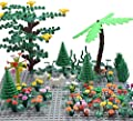 Sawaruita Classic Building Bricks Supplement, Princess Flowers Magical Plant Blocks Garden Kids Educational Toys Compatible with All Major Brands Kids Games-A from Sawaruita