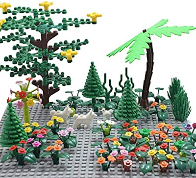 Sawaruita Classic Building Bricks Supplement, Princess Flowers Magical Plant Blocks Garden Kids Educational Toys Compatible with All Major Brands Kids Games-A from Sawaruita