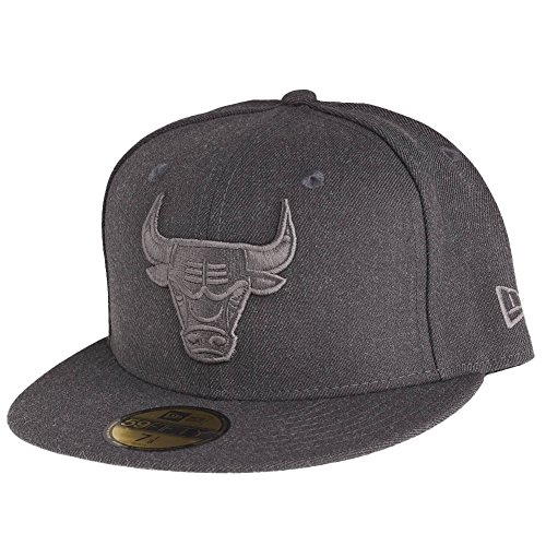 New Era 59Fifty Cap - GRAPHITE Grau Chicago Bulls, Gr. 7 3/8 - 59cm (L)