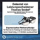 """Sportastisch Schwimmbrille """"ProSwim"""" mit auswechselbar Nasensteg (3 STK.) für Wasserdichten & individuellen, Bonus E-Book & bis zu 3 Jahren Garantie mit SPITZENSPORTLER EMPFEHLUNG* - 5"""