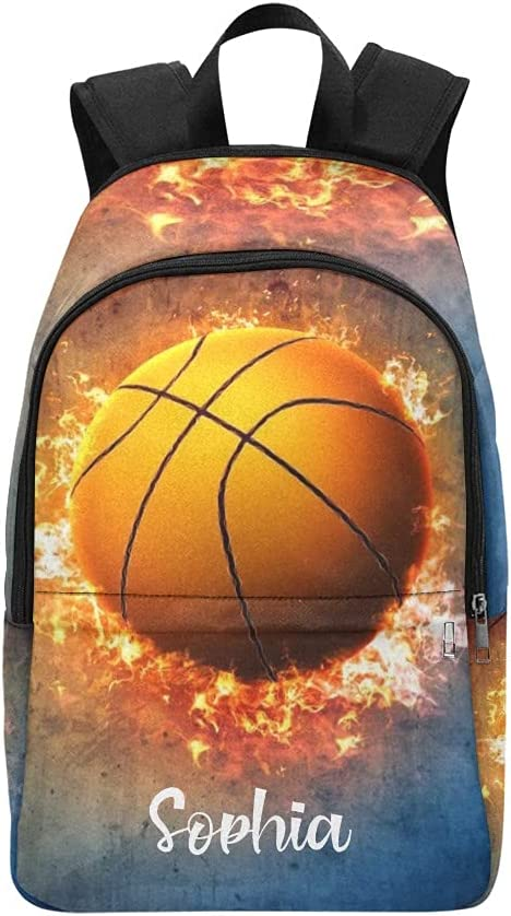 Fire Basketball personalized Wholesale Backpack with Ba Laptop Limited time trial price Name Custom