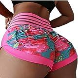 FEOYA Women Yoga Shorts Pocket Booty High Waisted Gym Workout Shorts Butt Lifting