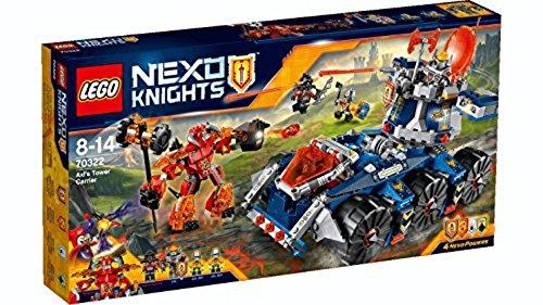 LEGO Nexo Knights Porta Torre di Axl Costruzioni Gioco Bambina Giocattolo, Colore Vari, 70322
