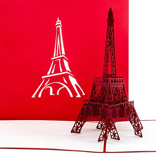 'Pop Up carta Torre Eiffel di Parigi – Buono, Buono viaggio Parigi Francia, 3d carta, invito,...