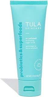TULA Probiotic Skin Care So Polished Exfoliating Sugar Scrub | Face Scrub, Gently Exfoliates with Sugar, Papaya, and Probiotics for a Softer and Radiant-Looking Complexion | 2.9 oz.