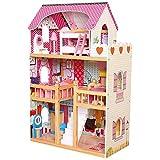 Bino & Mertens 83554 Puppenhaus mit Möbel, mehrfarbig