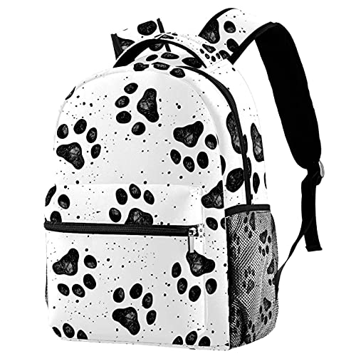Staroutah Rucksack Bookbag Daypack Schultasche Wandern Backpacking Hohe Kapazität und niedliches Outdoor-Lernen Skizze der Hundepfote für Frauen und Männer
