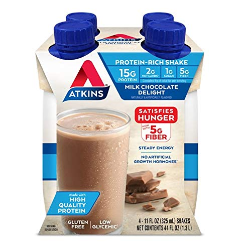 Atkins Milk Chocolate Delight Protein-Rich Shake (4 Shakes) Now $3.86