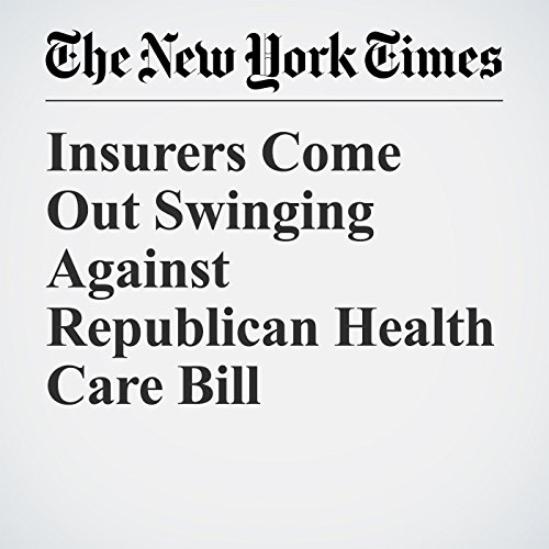 Insurers Come Out Swinging Against Republican Health Care Bill copertina