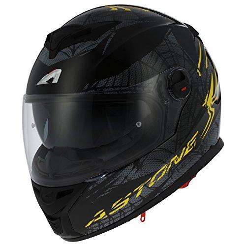 Astone Helmets gt800-spider-ybm Motorradhelm GT 800, gelb/schwarz, Größe M