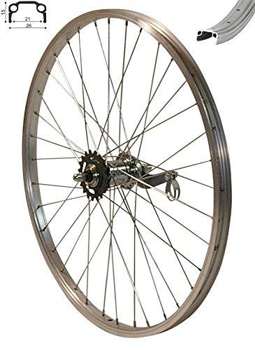 Redondo 24 Zoll Hinterrad Laufrad Kasten Alu Felge Silber mit Rücktritt Bremse