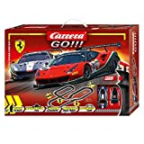 Carrera Toys GO!!! High Speed Contest Set Pista da Corsa e Due Macchinine, Due Ferrari 488...