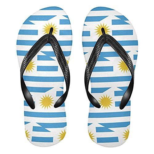 Sandalias de playa con diseño de bandera de Uruguay para hombre y mujer, multicolor, Large