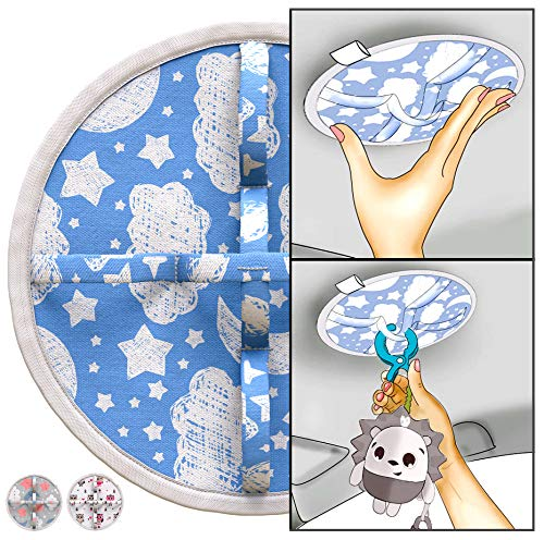 Matoki Ceiling Car Seat Toy Hanger – Travel Baby Mobile/Activity Center for Any Hanging Toy – CPC-Certified, Non-Adhesive Fastening Holds up to 10 Lb, Starry Night