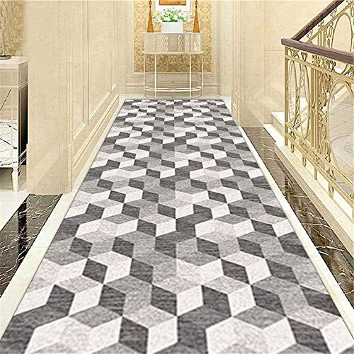Klassische 3D Cube Teppich Läufer for Hallen Tür Fußmatten Verschleißfeste Anti-Rutsch-Bereich Teppich for Treppen/Küche/Hotel Griffige Multiple Größen Größe: 120x400cm Hall Rugs