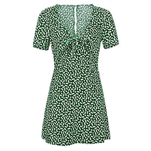 nobrand Frauen Kurzarm Kleid Damen Sommerferien Party Sommerkleid weiblich