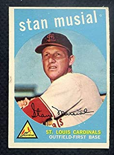 1959 Topps #150 Stan Musial Cardinals EX 372223 Kit Young Cards