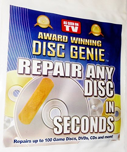 Cd DVD Games Scratch Repair Kit By Disc Genie