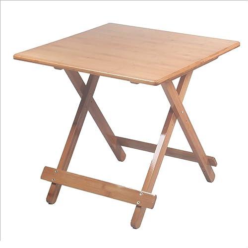NAN Table Pliante en Bambou Couleur Bois Massif Petite Table carrée Petite Table Table à Manger Portable