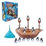 Tnfeeon Gioco da Tavolo Balance Boat, Gioco di Accatastamento di Penguin Boat Bilanciamento di Accatastamento Giocattolo di Apprendimento Precoce E Giocattolo Educativo