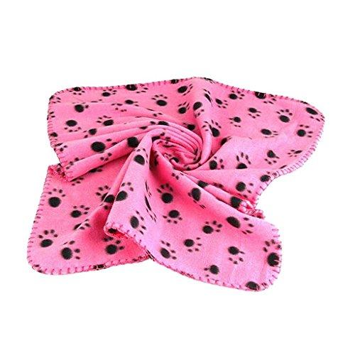Jellbaby New Pet Decke Haustierdecke/Hundedecke/Tier Matte/Cat Decke (bedruckt Pfotenabdruck) Super Soft