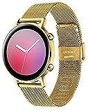 XIRUVE Correa de Reloj de Malla, Compatible con el Huawei Watch GT 2 42mm, Mujer Hombre Acero Inoxidable Reemplazo Liberación Rápida