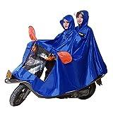 AA-SS Rain Cape Coat, JXSD- Wasserdicht mit Universal-Kapuze, wasserdicht, für Mobilitätsroller, Motorräder, Fahrräder, erhöht die Verdickung des Regenponcho, wasserdicht XXXXL blau