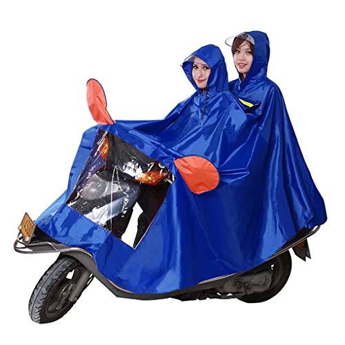 Regenjas, JXSD-Universele waterdichte regenjas met capuchon voor scootmobielen Motorfietsen Motorfiets Verhoog de verdikking Waterdichte poncho