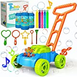 JUMELLA Lawn Mower Bubble Machine for Kids - Automatic Bubble Mower with Music, Baby Activity Walker for Outdoor, Push...