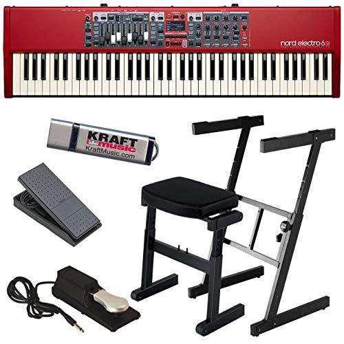 Best Price Nord Electro 6D 73 with Z-Frame Stand, Z-Frame Bench, Expression Pedal, Piano-Style Susta...