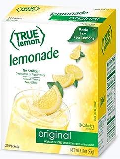 TRUE LEMON Original Lemonade Drink Mix (30 Packets) | Made from Real Lemon | No Preservatives, No Artificial Sweeteners, G...