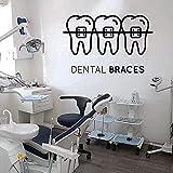 Pegatinas De Pared Calcomanías Artísticas Para Decorar Clínica Dental Clínica Dental Odontología Escaparate 71X98 Cm