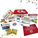 Geburtstagsgeschenk   Erste Hilfe Set Geschenk-Box, witziger Sanikasten   9-teilig   Scherzartikel zum Geburtstag (Deutsch)