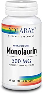 Solaray Monolaurin Supplement,500 mg, 60 Count