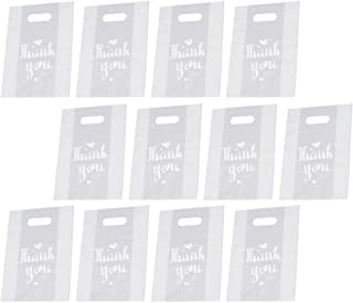 Hemobllo 50pcs Thank You Merchandise Bags Retail Shopping Bags for Boutique Goodie Bags Gift Bags Bulk Die Cut Handle Plas...