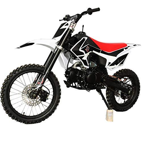 "X-PRO Titan 125cc Adults Dirt Bike Youth Pit Bike Dirt Pit Bike with 4-Speed Semi-Automatic Transmission, Big 17""/14"" Tires, Zongshen Engine! (Black)"