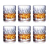 JASVIC Whisky Gläser 6er Set, 300ML Gläsersets Kristall Whisky Glas Becher, 100% bleifreies Scotch...