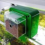 Huakii Mangeoire Automatique de Poisson, mangeoire Automatique d'aquarium, Durable Vert Automatique pour Le Distributeur de Nourriture d'aquarium de réservoir de Poisson