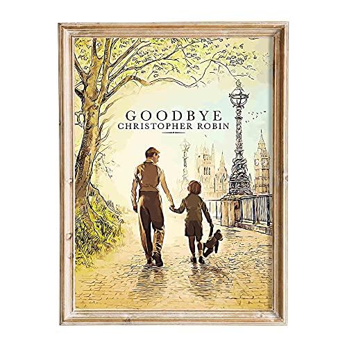 "FANART369 Filmposter ""Goodbye Christopher Robin"", A3-Format, origineller Fanart-Wandkunstdruck, Dekor, 29,7 x 42 cm, randlos"