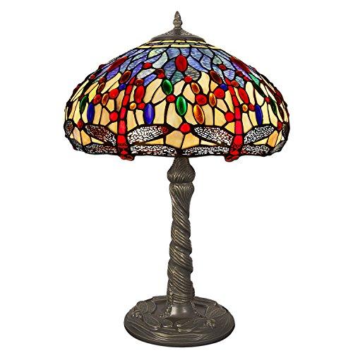 World Art Lámparas De Estilo Tiffany, Multicolor, 60x41x41 Cm