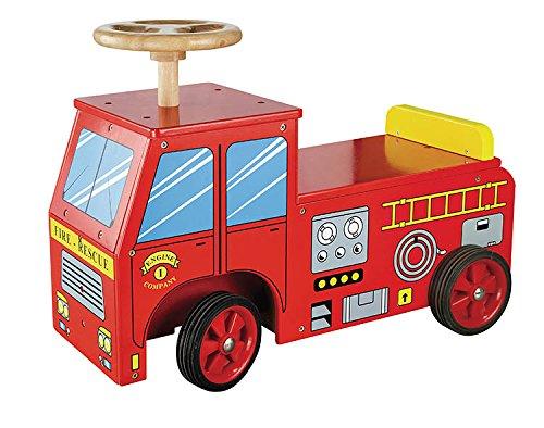 New Classic Toys - 1370 - Véhicule Pour Enfant - Porteur-pompier Bois