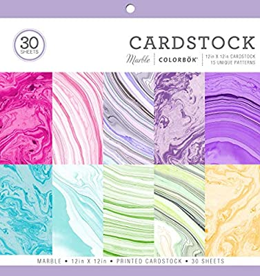 Cardstock Paper Pad Marble, 12 x 12