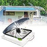 PaNt Ventilateur 12V Camping Car Admission et Échappement de Soutien Ventilateur de Toit pour Camping Car, 3 Vitesses de Vent Réglables, avec Capteur de Pluie et Télécommand