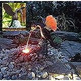 Garden Dragon Statue,Fountain Dragon Bronze Color Fountain Decoration Art Work, DIY Fire Dragon Water Fountain Resin Waterscape Sculpture Home Decoration Garden Ornaments