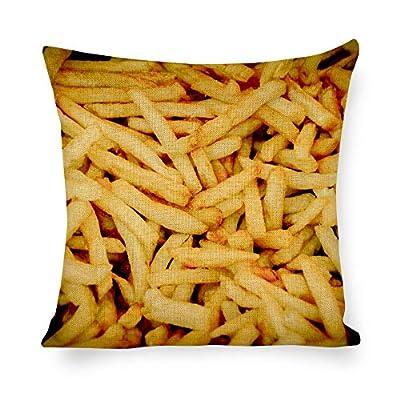 """Housse de coussin avec frites pommes de terre en coton et lin, Drap en coton, 16 x 16"""""""