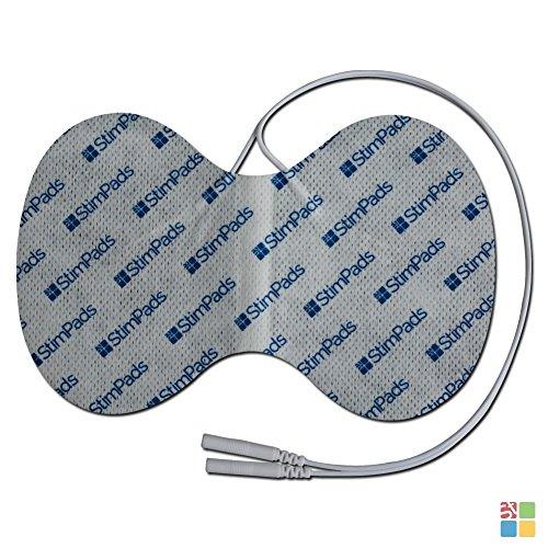 StimPads, Schmetterling-Pads 95X150mm, 1-er Pack leistungsstarke, langlebige TENS - EMS Elektroden mit 2mm Universal-Stecker-Anschluss