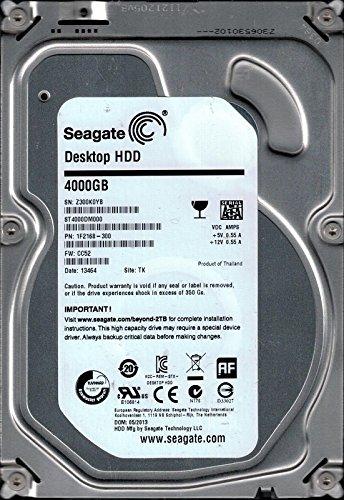 Seagate ST4000DM000 P/N: 1F2168-300 F/W: CC52 TK Z30 4 TB